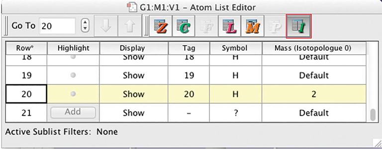 GV Atom List Editor